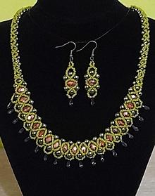 Sady šperkov - Zelený set - 12752565_
