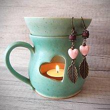 Náušnice - Orientálne náušnice, srdcia, antické, ružová.. - 12753153_