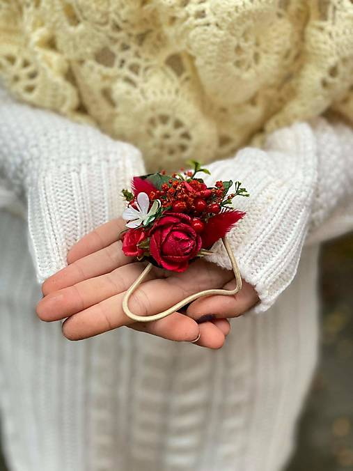 """Kvetinová gumička """"čakám na lásku"""""""