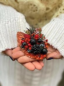 """Odznaky/Brošne - Kvetinová brošňa """"vianočné pokušenie"""" - perníček - 12752412_"""