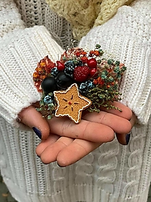 """Odznaky/Brošne - Kvetinová brošňa """"vianočné pokušenie"""" - hviezdička - 12752485_"""