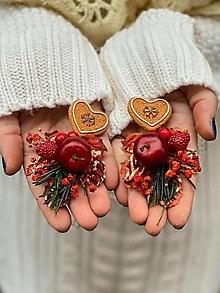 """Náušnice - Roztomilé náušnice """"vianočné pokušenie"""" - 12752506_"""