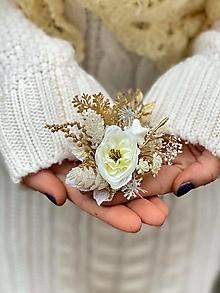 """Odznaky/Brošne - Kvetinová brošňa """"zimný čas"""" - 12752607_"""
