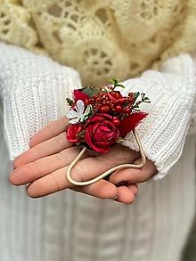 """Ozdoby do vlasov - Kvetinová gumička """"čakám na lásku"""" - 12752805_"""