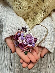 """Ozdoby do vlasov - Kvetinová gumička """"stmievanie vonia levanduľou"""" - 12752823_"""