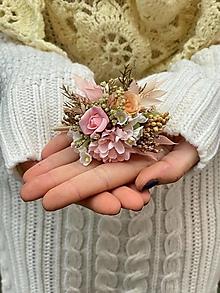 """Ozdoby do vlasov - Kvetinová gumička """"kúsok nežnosti"""" - 12752922_"""