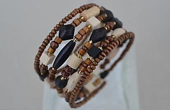 Náramky - Náramok drevený tricolor - 12750095_