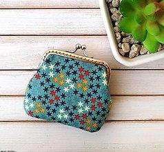 Peňaženky - Peňaženka mini Hviezdičky - 12751866_
