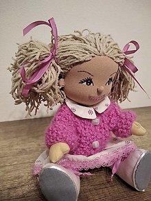Hračky - bábika- ružová Želka - 12754130_