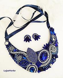 Sady šperkov - Modrá elegancia sada šperkov - 12753086_