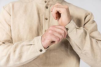 Oblečenie - Konopná košeľa Mojmír - 12756227_