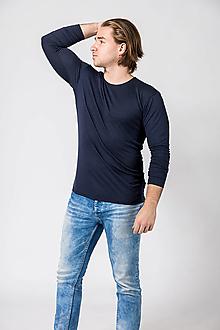 Oblečenie - Vlnené tričko Rozmarín modrá XL - 12756462_