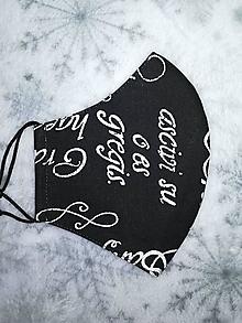 Rúška - Pánske rúško Písmo s antibakteriálnou bavlnou - 12758940_