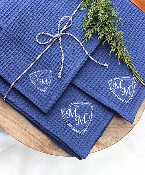 Darčekový set uterákov pre ♥PÁNA♥ (s monogramom)