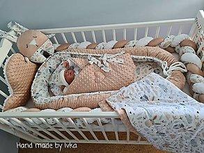 Textil - Hniezdo pre bábätko - bledo-hnedé minky/ 100% bavlna - 12758068_