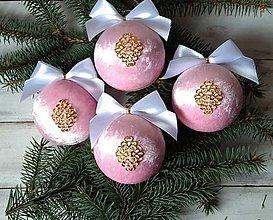 Dekorácie - Vianočné gule - 12755864_