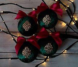 Dekorácie - Vianočné gule - 12755969_