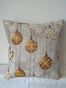 Úžitkový textil - Vankúš zlaté gule - 12755064_