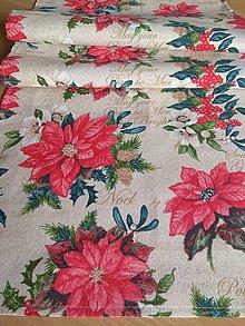 Úžitkový textil - Obrus vianočná ruža - 12756359_