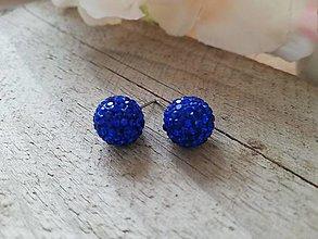 Náušnice - Discogulička preciossa capri blue - 12758712_