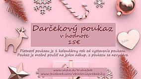 Darčekové poukážky - Darčekový poukaz v hodnote 15€ - 12754786_