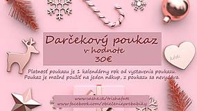 Darčekové poukážky - Darčekový poukaz v hodnote 30€ - 12754792_