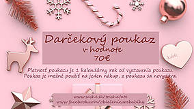 Darčekové poukážky - Darčekový poukaz v hodnote 70€ - 12754809_