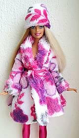 Hračky - Farebný kabátik pre Barbie - 12759004_