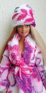 Hračky - Farebná ružová čiapka pre Barbie - 12759054_