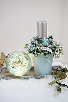 Svietidlá a sviečky - Vianočný svietnik - 12758148_