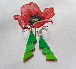 Náušnice - Darček k objednávke (Zelené) - 12756332_