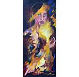 Obrazy - Žena odená vo farbách - 12756526_