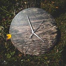 Hodiny - Tiger Oak - Dubové drevené hodiny - 12756395_