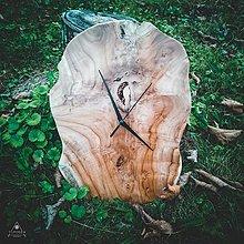 Hodiny - Raw - Teakové drevené hodiny - 12756438_