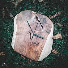 Hodiny - Raw - Teakové drevené hodiny - 12756453_