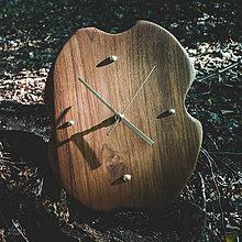 Hodiny - Raw - Teakové drevené hodiny - 12756550_