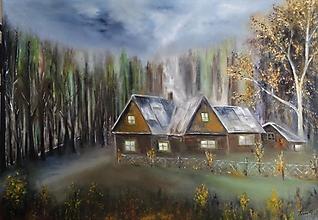 Obrazy - Jesenný podvečer - 12755076_