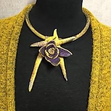 Náhrdelníky - Náhrdelník žltý kvet - 12757910_