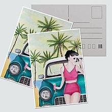"""Papiernictvo - Umelecká pohľadnica """"California dream"""" - 12758063_"""