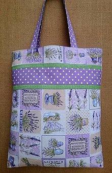 Nákupné tašky - Levanduľová taška - 12758943_