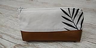 Taštičky - Kozmetická taštička Bronz - 12758334_