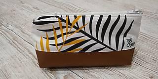 Taštičky - Kozmetická taštička Bronz - 12758338_