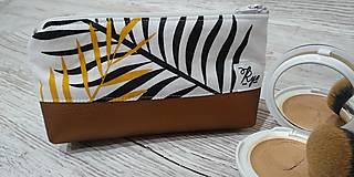 Taštičky - Kozmetická taštička Bronz - 12758339_