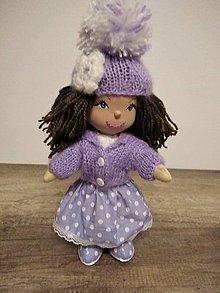 Hračky - bábika- fialová Fialka - 12757866_