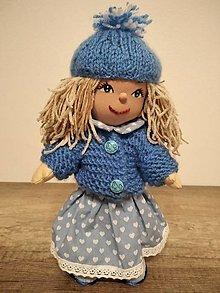 Hračky - bábika- modrá Nezábudka - 12758060_