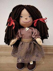 Hračky - bábika- hnedá vlasatá Beri - 12758481_