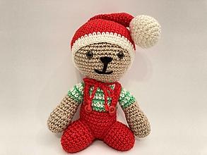 Hračky - Škriatok červeno/zeleno/biely vianočnýýýý - 12758149_