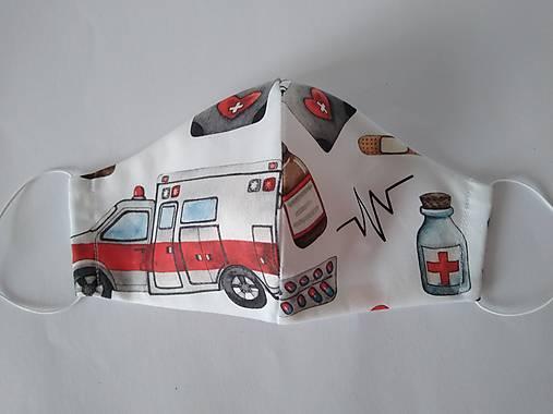 Dizajnové rúško záchranka prémiové tvarované dvojvrstvové