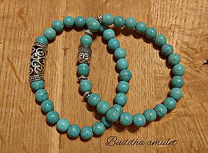 Náramky - Buddha amulet tyrkysový - 12763524_