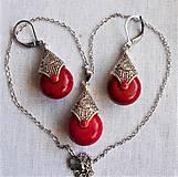 Sady šperkov - Slzy Orientu (Červená) - 12762170_